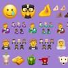 Un collage de dizaines de nouveaux emojis.