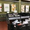 Paniers d'épicerie et étalages