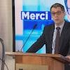 Le chef du Parti conservateur du Québec, Éric Duhaime, prononce un discours.
