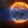 Illustration de l'exoplanète GJ 3470 b devant son étoile.