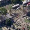 Cette photo fournie par WJLA-TV montre la scène d'une explosion qui a eu lieu à Baltimore, lundi.