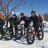 Quelques adeptes du fat bike.