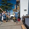 Femmes sur un chantier de construction.