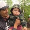 Un père et son jeune fils