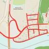 Une carte montre des rues fermées, en rouge.