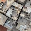 Vue aérienne d'un ensemble de bâtiments