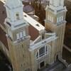 Vue aérienne de la co-cathédrale de Gravelbourg.