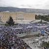 Des milliers de manifestants à Athènes