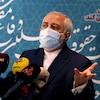 Mohammad Javad Zarif en conférence de presse.