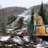 Hydro-Québec a déjà commencé à déboiser le tracé où seront installés ses pylônes.
