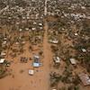 Bâtiments inondés dans la ville de Beira au Mozambique à la suite du passage du cyclone Idai