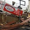 Les dommages causés par un incendie à Hawkesbury.