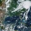 Une image satellite de la tempête tropicale Isaias qui progressait mardi vers le nord-est des États-Unis.