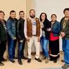 Le nouveau chef d'Opitciwan, Jean-Claude Mequish, entouré de son équipe de conseillers élus.