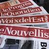 Des exemplaires de journaux, propriétés de Groupe Capitale Médias (GCM).