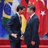 Le premier ministre Justin Trudeau et le président chinois Xi Jinping lors du Sommet du G20 en Chine.