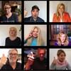 Les images de Kathleen et des artistes s'apprêtant à chanter ensemble dans à l'aide d'une application de visioconférence.