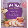 L'étiquette d'un petit pot de ragoût de dinde pour bébé de la compagnie Heinz