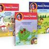 Les trois livres ont des illustrations sur leur page couverture.