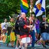 Photo de la marche de la fierté gaie.