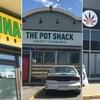 Des façades de magasins de cannabis à Saskatoon.