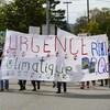 Des manifestants luttent pour l'environnement.
