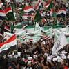 Des manifestants irakiens sur la place Tahrir  à Bagdad, le 6 décembre 2019.