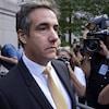 L'ancien avocat de Donald Trump, Michael Cohen, quitte la Cour fédérale le 21 août 2018.