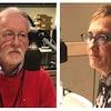Loreen Pindera et Claude Gervais au micro de l'émission de radio <i>Midi info</i>.