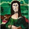 Peinture amatrice représentant « La Joconde ».