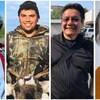 Un collage des quatre candidats.