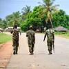 Des soldats à Mocimboa da Praia,  dans le nord du Mozambique, où les djihadistes ont pris le contrôle du port. (photo d'archives)