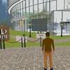 Un avatar dans un village virtuel pour l'événement MTL connecte.
