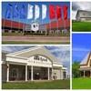 Un montage avec les photos de sept musées.