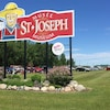 Le panneau du musée Saint-Joseph, au Manitoba.