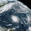 Photo satellite de l'ouragan Teddy et d'autres tempêtes tropicales.