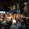 Dominic Champagne s'adresse à la foule