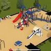 Un plan du parc pour enfants, avec des glissoires et des jeux.