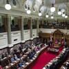 Les élus réunis à l'Assemblée législative de la Colombie-Britannique.