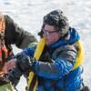 Le photographe Jacques Proulx s'est retrouvé dans les eaux du fleuve samedi.