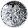 La pièce d'argent de la Monnaie royale canadienne où on voit le soldat Baker au moment du débarquement de Normandie.