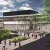 Un plan du nouveau poste de police qui sera construit sur la rue Albert à Moncton.