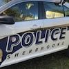 Un véhicule de patrouille du Service de police de Sherbrooke.