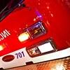 Le devant d'un véhicule des services d'incendies.