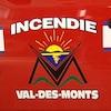 Un camion de pompier du Service des incendies de Val-des-Monts.