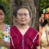 De gauche à droite: Leydy Pech, Paul Sein Twa et Nemonte Nenquimo, lauréats du prix Goldman pour l'Environnement