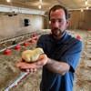 Le producteur de poulet de la région Alex Turner.