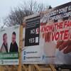 Des affiches électorales à l'Île-du-Prince-Édouard.