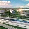 Maquette de la station Panama du Réseau électrique métropolitain.