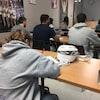 Des étudiants dans une salle de classe au Cégep  Garneau
